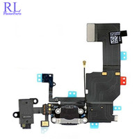 Wholesale test audio resale online - 100pcs Replacement test one by one USB Charging flex cable for iphone g headphone Audio Jack USB port dock connector