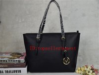 Wholesale Black Cotton Tote - Hot sell Designers women famous brand MICHAEL KALLY handbag luxury PU LEATHER messenger handbags women's lady shoulder Travel bags 6821