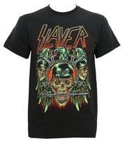 летние фоны оптовых-Лето 2018 известный бренд Slayer мужская добыча с фоном футболка смешно печать футболки мужчины с коротким рукавом футболки