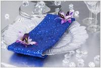 pañuelos azul real al por mayor-Venta caliente Niza que mira la tabla de la lentejuela Servilleta / Hotel Royal Blue Servilletas / Eventos del partido Pañuelo para la cena y el banquete / envío gratis