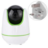 tarjeta wifi para teléfono móvil al por mayor-720P HD WiFi Wireless Home cámara de visión nocturna IR-Cut P / T Webca para niños Kids Soporte de tarjeta TF teléfono móvil del mando a distancia