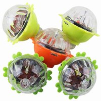 Wholesale friction light online - Whirling Children Novelty Lace Scopperil Inertia Flash Of Light Rotate Gyro Toy At Full Speed Friction Luminescent Gyroscope sk W