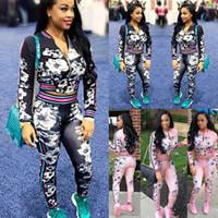 yeni stil kadın pantolon toptan satış-2 Adet Lady Bayan Eşofman Hoodies Kazak Yüksek bel Pantolon Setleri Spor Giyim Rahat Takım 2018 yeni stil VNY * ZY001
