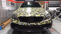 Wholesale windshield sticker for honda for sale - Group buy Yellow Jumbo Camo VINYL Wrap Full Car Wrap Camouflage graphic sign Stickers with air free size For BMW HONDA etc x m Roll x98ft