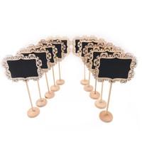 ingrosso segni di nozze della lavagna-Mini piccolo gesso in legno lavagna da pranzo ristorante cucina segni lavagna lavagna avviso messaggio vernice legno bordo