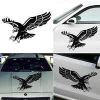 Wholesale eagles car stickers - 1 Pcs Fashion Reflective Eagle Decal Vinyl Car Stickers Auto Door Hood Cover Sticker Car Styling Wholesale