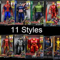 Wholesale toy ultron for sale - Group buy The Avengers PVC Action Figures Marvel Heros cm Iron Man Spiderman Captain America Ultron Wolverine hulk Figure Toys OTH025