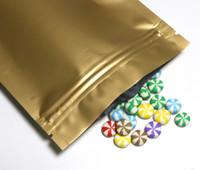 ingrosso sacchetti di spedizione di stoccaggio di plastica-Multi colore risigillabile Zip Mylar Bag Conservazione degli alimenti Lamina di alluminio Borse Imballaggio di plastica Sacchetti a prova di odore Spedizione gratuita