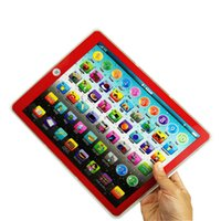 ingrosso apprendere i computer-Grande schermo Learning Toy gioco Tablet pad Computer portatile inglese Y Pad Kids Game Music Education Natale Electronic Notebook