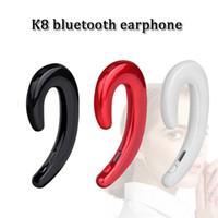 casque bluetooth pour tablettes achat en gros de-K8 sans fil bluetooth casque écouteurs sport casques mains libres stéréo sport sweatproof casque avec micro pour pc tablette