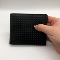 billetera tarjetas de visita al por mayor-2018 Luxury M B de cuero caliente de los hombres de negocios de la cartera corta monedero MT monedero titular de la tarjeta MB de lujo exclusivo caja de la caja de tarjetas de identificación