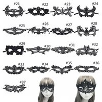 Wholesale sexy animal halloween costumes resale online - Sexy Lace Party Masks Women Ladies Girls Halloween Xmas Cosplay Costume Masquerade Dancing Valentine Half Face Mask GGA1053