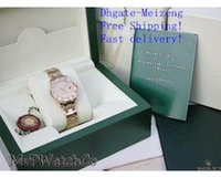 Wholesale Paper Calendars - Original Box Papers Luxury AAA Top quality Luxury Sapphire LADIES 18K GOLD FACTORY 12 DIAMOND BEZEL B&P 80318 automatic WOMEN 31MM Watches