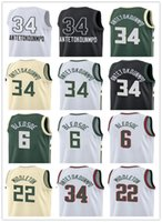 nuevo middleton al por mayor-2018 hombres de Nueva Jersey 34 Giannis Antetokounmpo Jerseys 6 Eric Bledsoe 12 Jabari Parker 22 Khris Middleton camisetas All Star Basketball Jerseys