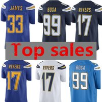 Wholesale river free - 33 Derwin James Jersey New Los Angeles Chargers 17 Philip Rivers 99 Joey Bosa Football Jerseys Free Shipping