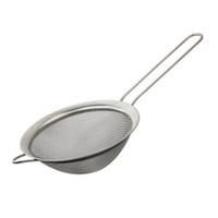 colador fino al por mayor-Colador de malla fina de acero inoxidable Colador Tamiz de harina con mango Mango y Colador de té Herramientas de cocina ZA6746