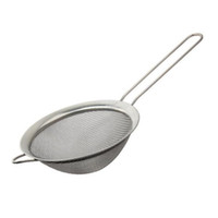 Wholesale kitchen sieve strainer - Stainless Steel Fine Mesh Strainer Colander Flour Sieve with Handle Juice and Tea Strainer Kitchen Tools ZA6746