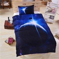 cama de espacio reina al por mayor-3d galaxia funda nórdica conjunto solo / gemelas doble / reina completa tamaño king 3pcs universo espacio exterior temática juegos de cama envío gratis