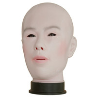 Wholesale realistic sexy girls - Realistic Female Mask For Halloween Human Female Masquerade Latex Party Mask Sexy Girl Crossdress Costume Cosplay Mask