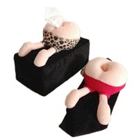Wholesale lips rooms online - Funny Cartoon Buttocks Lips Plush Tissue Box Covers Soft Napkin Paper Holder Creative