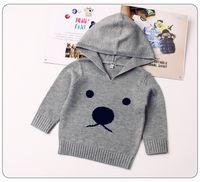 ingrosso maglione maglione dei capretti dei capretti-Funny Bear Baby Boys maglioni lavorati a maglia Pullover Cute Animal Pattern Bambini Bambini Abbigliamento invernale Toddler Infant Girls Knitwear