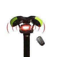 alarma de bicicleta de control remoto al por mayor-Anti-thift MTB Bike Alarm Control remoto inalámbrico carretera bicicleta Bell recargable luz láser accesorios de bicicleta ciclismo alarma