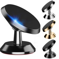 Wholesale alloy phone for sale - 360 Degree Magnetic Car Mount Holder Stand Metal Alloy Rotation phone bracket for iphone x samsung android phone gps
