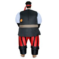 Wholesale pirate costumes women for sale – halloween Funny Inflatable Pirate Costume Adult for Pirates Halloween Mascot Carnaval Vestidos Funny Party Dress Men Women LJ
