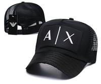 erwachsene tops großhandel-Baseball A / X Mesh Cap Outdoor Hüte Adult Blank Trucker Hat Hysteresenhüte Top-Qualität Markenhüte Tennis Liebhaber 6 Panel Cap Knochen