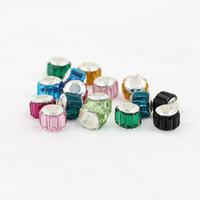 ingrosso perline acriliche di halloween-10 * 9.5mm acrilico rondelles perline di cristallo con strass perline distanziali per i risultati di gioielli fatti a mano fai da te fare accessori