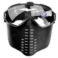 gesichtsmaske lüfter groihandel-Marui Pro-Goggle Anti-Fog-Design Full-Face-Version Sicherheitsmaske mit Lüfter Belüftung für Outdoor-CS-Spiel (schwarz)