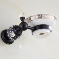 ingrosso supporto porta piatto da sapone-Fashion New Bronze Copper Luxury Oil Rubbed Bronze Bathroom Soap Dish Accessori da bagno Set portasapone Montaggio a parete