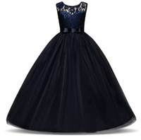 Wholesale teenage girls prom dresses resale online - Teenage Girl Dresses Long Formal Prom Gown for Kids Girls Clothing Wedding Party Tutu Dress Christmas Party Children Clothes