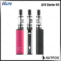 Wholesale lightweight glasses resale online - Justfog Q16 Starter Kit with Q16 Clearomizer ml J Easy VV Battery Buit in mAh Small Lightweight Design Original