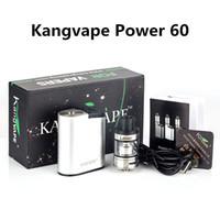 Wholesale aluminum clocks - Kangvape Power 60 Vape Mods Kit Aluminum Built-in 1500mah Nano K Atomizer 510 Thread Clock 3.3V~4.2V Electronic Cigarettes
