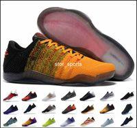 caballos de deporte al por mayor-Zapatillas de baloncesto Kobe 11 Elite Men 2018 de alta calidad Kobe 11 Red Horse Oreo Sneakers KB 11 zapatillas deportivas con caja