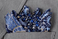 seda natural para la venta al por mayor-Pañuelos Venta caliente Pañuelo de bolsillo hecho a mano de seda natural de alta calidad Pañuelo de bolsillo de lujo con caja de regalo