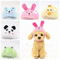 Wholesale cheap cosplay - Cute Dog Hat Animal Shape Dog Cap Cheap Pet Accessories Caps For Dogs Hats Pets Products Funny Cosplay Pet Dog Hat CCA10137 60pcs