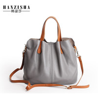 Wholesale natural composites - 2018 Cow Leather Women Bag Female Luxury Design Natural Leather Fashion Brand Women messenger Bag Composite Tote bolsos mujer