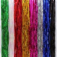 mehrfarbige vorhanglichter großhandel-Farbe Regen Vorhang Hochzeitsdekorationen Bunte Tür Vorhang Urlaub Dekorationen Bühnenfahnen Party Set Beleuchtung Papier