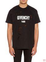 femme grande t-shirt achat en gros de-givenchy 18ss d'été rue usure Europe Paris mode GIV T-shirts hommes