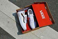 Wholesale leather shoelaces - 2018 Vans Old Skool Running Shoes Classic Black White Customs SHOELACES Designer Fashion Casual Famous Brand Canvas Vans Sneakers