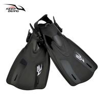 Gray Professional Adult Swimming Diving Swim Fins Flippers Scuba Snorkeling Fins