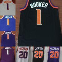 Wholesale fan goods - NCAA Wholesale TOP Fan 2018 Men New 1# Devin Booker Jersey 20# Josh Jackson Basketball Jerseys All Stitched Free Shipping Good shirts