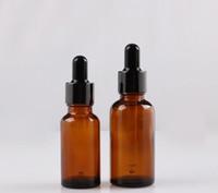 perfumes de 5ml venda por atacado-Amber Glass Reagente Líquido Pipeta Garrafas de Olho Conta-gotas Aromaterapia 5 ml-100 ml Óleos Essenciais Frascos de perfume bom