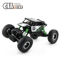 Wholesale 4wd rc trucks - 2018 New RC Car 2.4G 4CH 4WD 4x4 Driving Car Double Motors Drive Bigfoot Cars Remote Control Cars SUV Off-Road Vehicle Truck