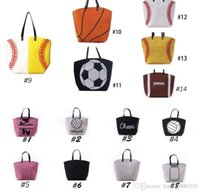 Wholesale Rolling Tote Bags - colors stock black white Blanks Cotton Canvas Softball Tote Bags Baseball Bag Football Bags Soccer ball Bag with Hasps Sports Bag Towel