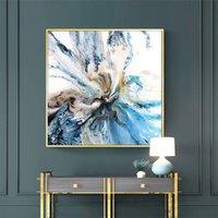 ingrosso arte blu paesaggio-Arte minimalista Stampa giclée Abstract Blue Bold Art Paesaggio costiero Immagini a parete per soggiorno Home Decor