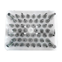 piping set baking Canada - Wholesale- Free Shipping 52pcs set Icing Piping Nozzles Tips Cake Baking Pastry Stainless Steel Puff Decorating Mouth Tools