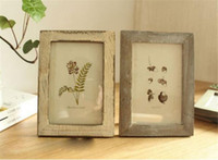 Wholesale wooden frames paint for sale - Group buy New Home Colors Quality Vintage Photo Frame Home Decor Retro Wooden Wedding Couple Recommendation Pictures Frames Gift Ornament